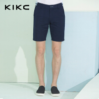 kikc2018夏季新款男士纯棉五分休闲裤短裤修身韩版直筒沙滩裤男装