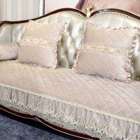 欧式沙发垫防滑布艺四季通用美式真皮坐垫加厚毛绒客厅套定