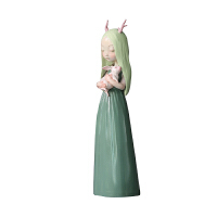 小鸡磕技兔小女孩创意生日礼品新婚礼物办公室桌面摆件家居艺术品 (大)