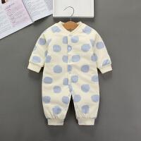新生婴儿衣服秋冬女保暖连体套装初生男宝宝哈衣外出抱衣潮夹棉衣