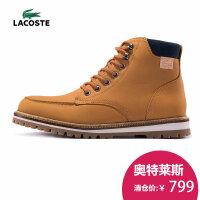 LACOSTE 法国鳄鱼 高帮皮靴 牛皮革 运动休闲鞋 男鞋 30SRM0017
