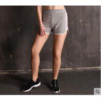 短裤健身修身显瘦短裤腰头系带抽身侧边异色拼块热裤女士运动休闲