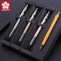 日本进口樱花牌自动铅笔0.3/0.5/0.7/0.9mm绘图小学生文具美术漫画手绘设计绘画素描画画专用低重心写不断芯