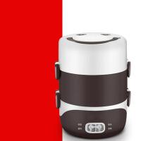 可插电加热蒸饭器热饭器带饭器 电热饭盒双层陶瓷保温饭盒