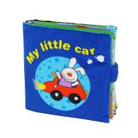 LALABABY/拉拉布书 婴儿早教 撕不烂 立体英文布书 1-3岁玩具 My little car(我的小汽车)