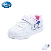 迪士尼Disney童鞋2018新款小白鞋儿童运动鞋男女童户外休闲鞋 (5-10岁可选) DS2758