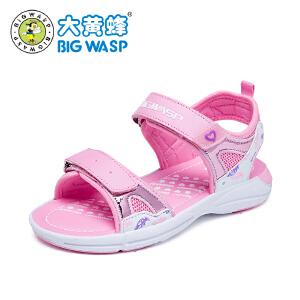 大黄蜂童鞋 女童凉鞋2019夏季新款韩版儿童鞋子公主鞋女孩沙滩鞋