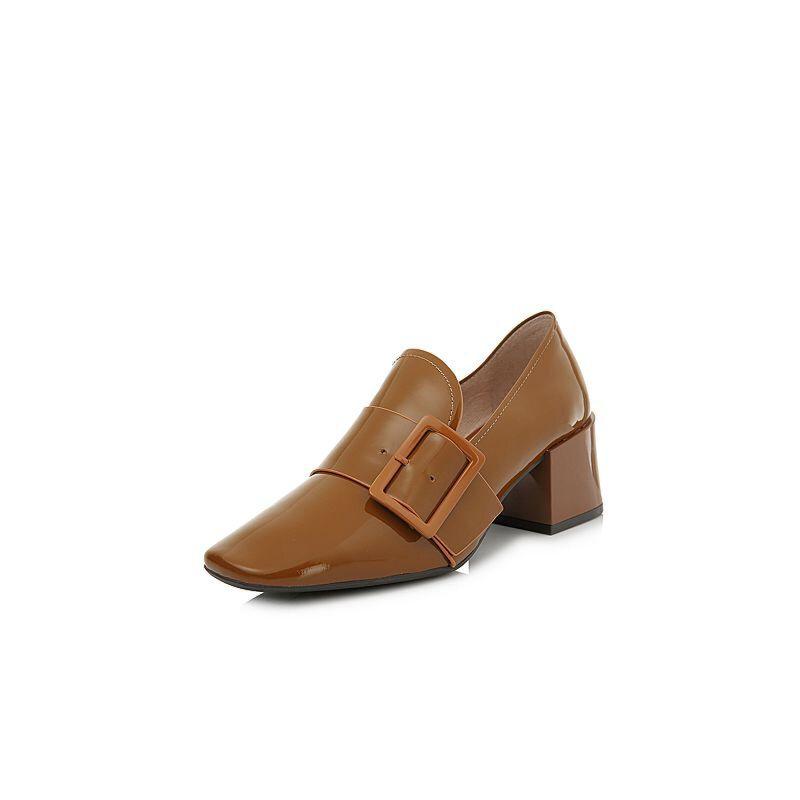 BASTO/百思图2018春季专柜同款牛皮方头浅口女单鞋AA501AQ8