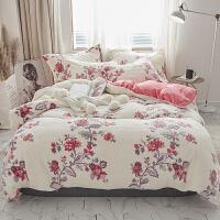 冬季法兰绒床单四件套床上加厚珊瑚绒被套双面绒保暖法莱绒公主风