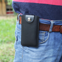 xs max手机腰包男士苹果x 6 7 8plus挂腰皮套穿皮带超薄XR 4.7黑色 单机挂腰包A