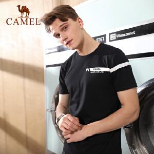 camel骆驼运动T恤 男款休闲春夏日常跑步干爽透气短袖上衣