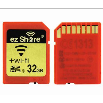 ezShare易享派 WIFI无线SD卡 32G class10 WiFi SD 32GB 无线SD相机内存卡 sd卡 32g 无线SD卡,赠送SD卡保护盒!