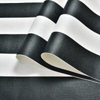 卧室条纹墙纸现代简约客厅背景墙壁纸服装店加厚防水 仅墙纸