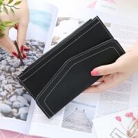 2018新款韩版钱包女长款拉链学生钱夹小清新迷你软面手拿包