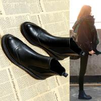 小短靴女春秋2018新款女鞋冬季韩版单靴平底裸靴切尔西马丁靴子潮