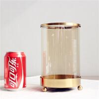 北欧风格轻奢简约金属电镀蜡烛台蜡烛灯可用LED铜线灯餐桌装饰品