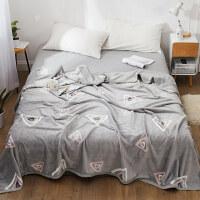 冬季盖毯珊瑚绒毛毯加厚法兰绒床单人薄款1.8m床上法莱绒午睡毯子