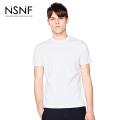 NSNF夜光LOGO运动打底白色圆领T恤男修身  修身圆领针织短袖  短袖t恤男装2017新款