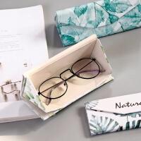 折叠眼镜盒太阳墨镜盒韩国可爱学生男女便携简约小清新复古优雅