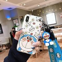 挂绳哆啦A梦机器猫叮当猫卡通软壳苹果7plus手机壳8P带挂绳X挂脖XS挂手式XR可爱全包MAX女款 苹果XS MAX