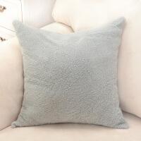 澳洲整张羊皮卷羊毛抱枕靠垫沙发靠垫珍珠羔羊毛靠垫沙发腰靠 双面卷羊毛 45 x 45c
