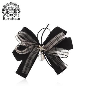 皇家莎莎发饰头饰发夹发卡韩国横夹盘发马尾夹手工布艺弹簧夹顶夹
