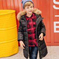 美特斯邦威旗下Moomoo童装男童时尚长款羽绒服中大童冬季加厚保暖羽绒服