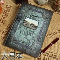 欧式复古笔记本学生创意文艺日记本商务文具旅行记事本子素描