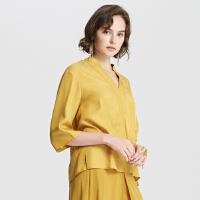 【2件2.5折到手价:91.25,4月10日0点】MECITY女装时髦七分袖衬衫