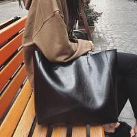 包包大包女包简约托特包手提包大容量单肩包 黑色