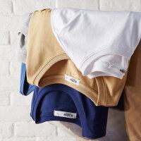 【2件2.5折到手价:24.8】美特斯邦威t恤男短袖2019新款夏季潮流男生纯棉圆领白色口袋体恤