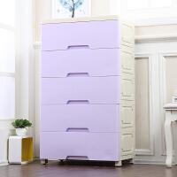 抽屉式收纳柜塑料宝宝衣柜5层整理柜子储物柜儿童五斗柜