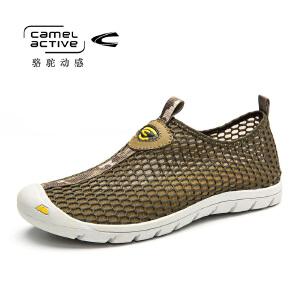 骆驼动感(camel active)春夏季男士休闲网面鞋沙滩男网鞋
