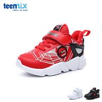 天美意teenmix童鞋18新款儿童运动鞋联名款蜘蛛侠男女童休闲鞋中大童户外鞋 (5-10岁可选)DX0385