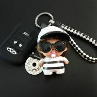 3X奇瑞7瑞虎5X艾瑞泽5 7e3风云2汽车E5改装A5硅胶EQ1钥匙套包扣E3