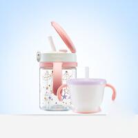 透透杯婴儿吸管水杯套装儿童水壶 宝宝学饮杯
