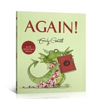 英文原版绘本 AGAIN! 再一次 格林威奖作家Emily Gravett 作品 儿童亲子趣味阅读图画书 平装 吴敏兰