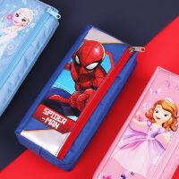 小学生笔袋简约迪士尼 可爱卡通公主笔袋ins文具袋简约钢铁侠文具袋奖品创意网红笔袋笔袋大容量笔袋文具盒女