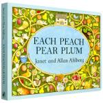 华研原版 桃子梨子梅子 英文原版绘本 Each Peach Pear Plum 英文版儿童英语图画纸板书 廖彩杏书单