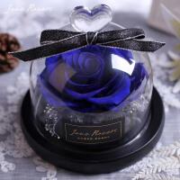 情人节永生花玻璃罩礼盒玫瑰保鲜花教师节礼物送老师生日
