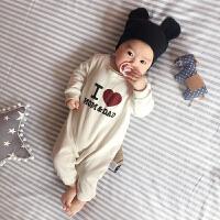 婴儿童连体衣服春装0-1岁6个月女宝宝春季新生儿春夏款长袖休闲服
