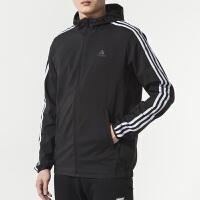 Adidas阿迪达斯 男装 运动防风衣连帽夹克外套 DW4600