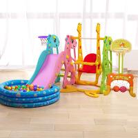 20181009224905085儿童室内滑梯家用多功能滑滑梯宝宝组合滑梯秋千塑料玩具加厚