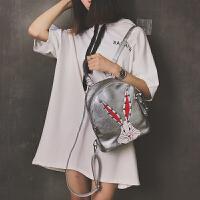 2018新款双肩包女韩版ins超火软皮包校园百搭书包旅行女士小背包