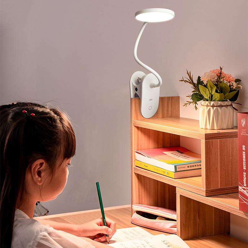 雷士照明夹子台灯护眼书桌学生儿童防近视led写字充电插电小台灯