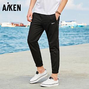 Aiken爱肯2018夏裤子男潮流裤子小脚裤哈伦裤薄款宽松运动休闲裤