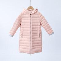 2018新款冬季儿童轻薄款羽绒服中长款男童女童宝宝薄童装外套潮