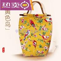 香港潮牌原创手工定制女布包文艺复古民族风棉麻帆布手提包中年休闲购物袋