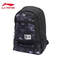 李宁双肩包2018新款运动时尚系列背包学生书包运动包ABSN166