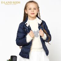 【2件2.5折价:274.5元】Eland kids衣恋童装冬季女童蝴蝶结羽绒服EKJD74922A